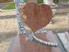 Stèle en coeur